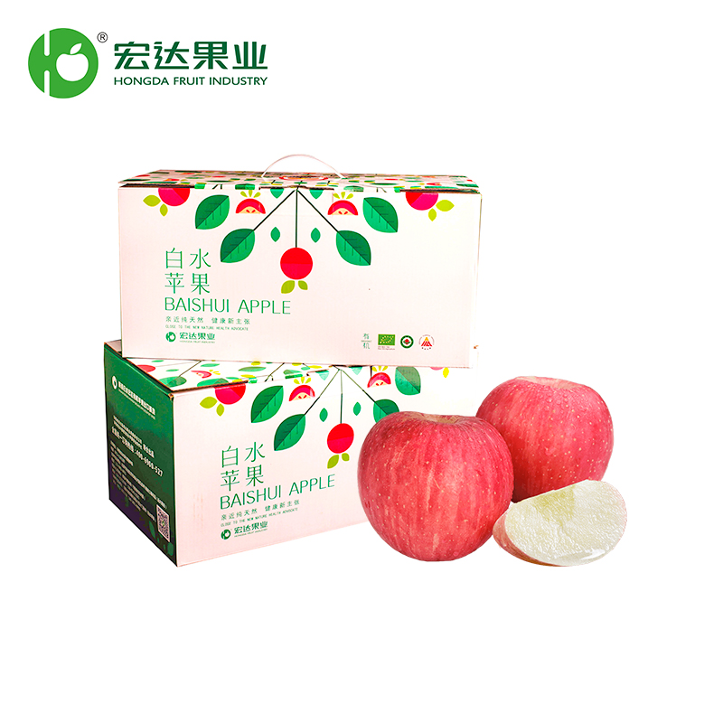 【宏达果业】白水红富士-16粒