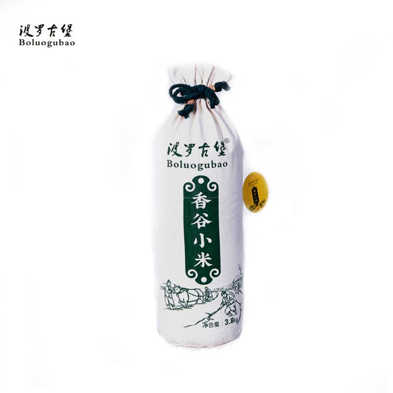 【古法自然米】长帆布袋3.8kg小米