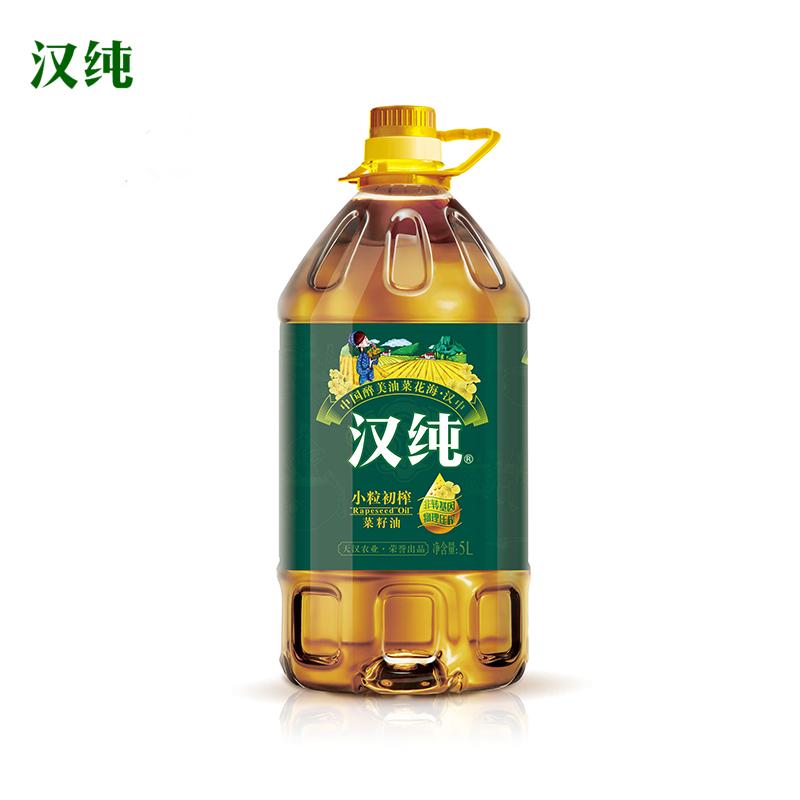 汉纯小料初榨菜籽油5l